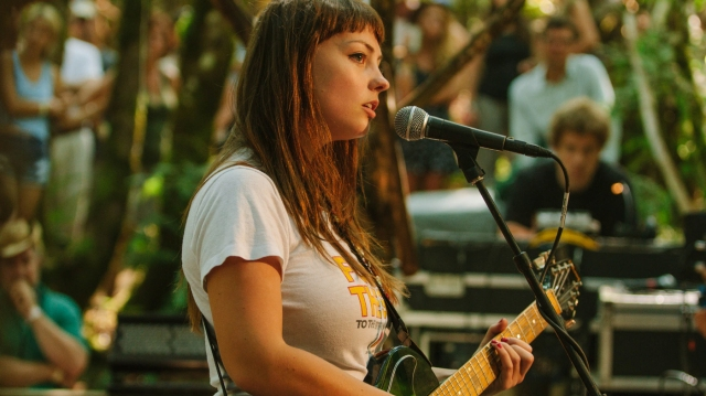 Angel Olsen performs at the 2014 Pickathon Woods Stage.