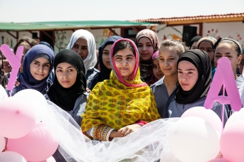 Malala at Kayany's Malala School in Bekaa Valley in Lebanon.