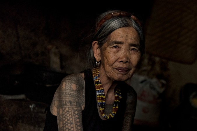 Maria Fang-od Oggay in her house in the village of Buscalan, Philippines.