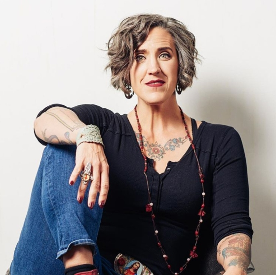 Nadia Bolz-Weber smiling at camera
